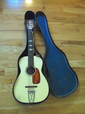 Nice Condition 1960 Vintage Stella parlor guitar Harmony made Blonde 60's