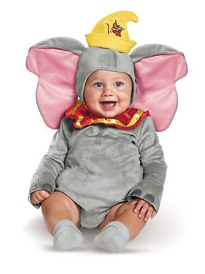 Dumbo the Elephant Child Infant Baby Costume Size 6-12 Months NEW Disney