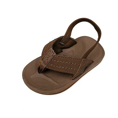 New Toddler/infant Rainbow Sandals Kidcapes Sierra Brown Single Layer Rubber