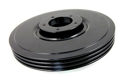 Black Finned Front Brake Drum For Spring Springer Fork Harley El Ul Fl G 1936-57