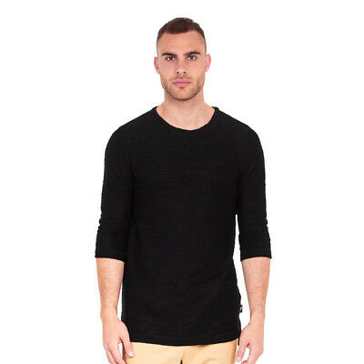 Publish Brand - Conor Knit 3/4 Longsleeve Black Langarm Shirt