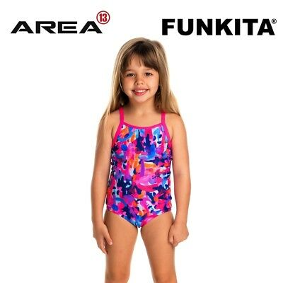 Funkita Party Army Toddler Girls Printed One Piece , Toddler Girls One Piece Swi