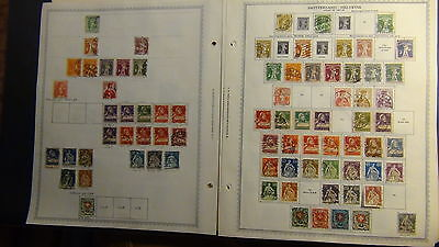 Switzerland stamp collection on Minkus pages to '90