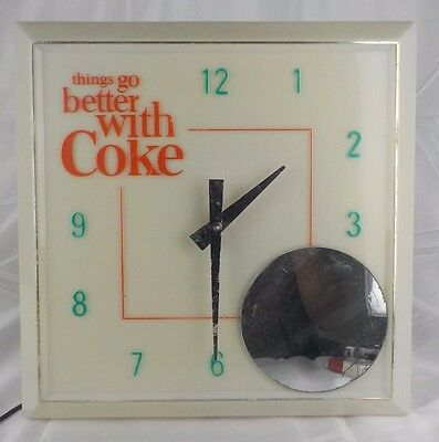 Vintage things go better with Coke Lighted Clock Sign (Works Great) Coca-Cola