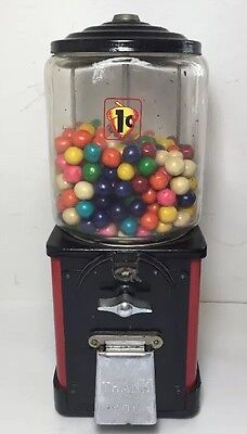 Vintage 50s Victor Topper Gumball Machine - One Cent Penny Gum vending candy