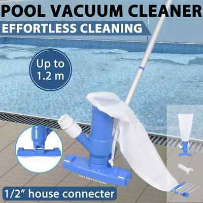 New Swimming Pool Vacuum Cleaner 1.2m Hose Above In Ground Fountain Pond Garden