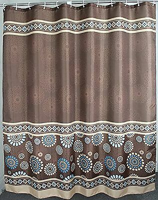 Polyester Fabric Extra Wide Shower Curtain 108 X 72 Inches By Welwo Brown Or