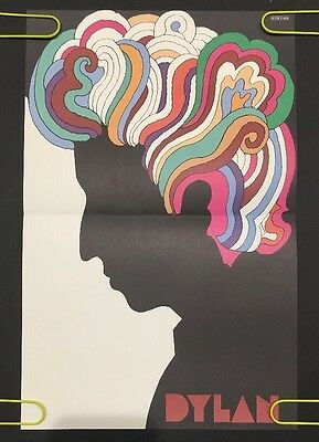 Vintage Milton Glaser Bob Dylan Poster Psychedelic Pin-up 1960's Rainbow Mini