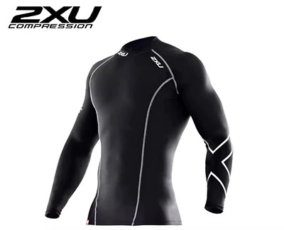 2XU COMPRESSION MENS   Long Sleeve T-Shirt Top Skins   SIZE XS SM MED LARGE XL
