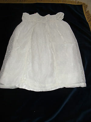 "Vintage white cotton & lace girl's dress 25"" long 26"" chest"
