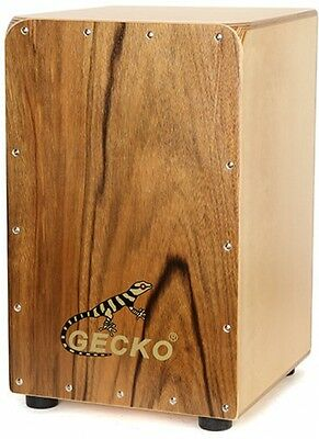 Gecko CL026R Zingnan Wood Cajon Drum with Bag