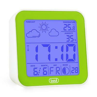 Trevi  Alarm Clock Weather Station Thermometer Hygrometer Moon Phases