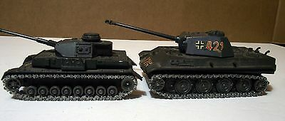 Vintage Solido  German Tank lot of 2 pnther g and pz Iv