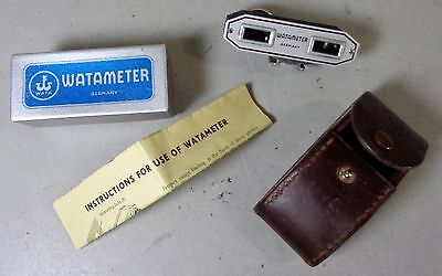 Vintage Watameter II Rangefinder Boxed with Instructions & Original Leather Case