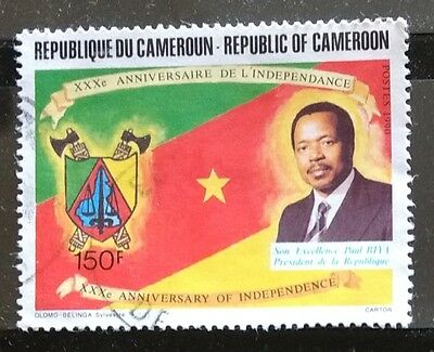 118.cameroon 1990 (150F) Used Stamp Anniversary Of Independence.