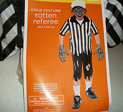 Rotten Referee boys 3-4 yrs size small 4-6 Halloween sports Costume scary new