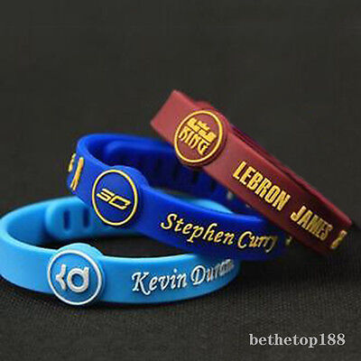 Basketball Bracelet adjustable Wristband Strap CURRY LEBRON JAMES  Durant HOT