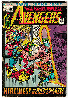 Marvel Comics THE AVENGERS Issue 99 Hercules Whom The Gods Would Destroy! VG-
