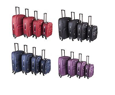 4 Wheel Lightweight SuitCase Spinner Trolley Expanding Travel Luggage Cabin Case