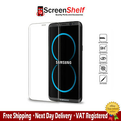 Samsung S8 Edge Curved3d Tempered Glassscreen protector Translucent