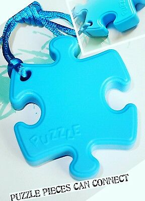 Anxiety Autism ADHD Sensory Chew Necklace Pendant safe silicone blue