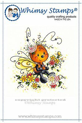 Whimsy Stamps - Cling Mounted Rubber Stamp - Mariposa