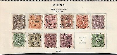 China: 2 littles lots of stamps, used. CI14
