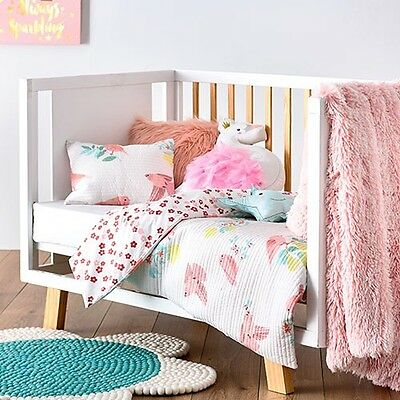 Adairs Kids Birdy Cot Quilted Cover Set Rrp$129.99