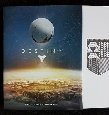 Destiny limited edition strategy guide hardback exclusive lithograph bradygames