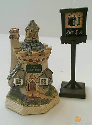 David Winter Cottages THE HOTPOT Dinner Party Collection Boxed + COA HOT POT