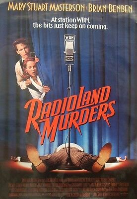 RADIOLAND MURDERS(1994)Original rolled  US one sheet movie poster UK POST FREE