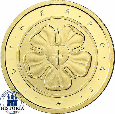 Deutschland 50 Euro Lutherrose Gold 2017 Reformation Martin Luther Mzz A Berlin