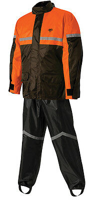 Nelson Rigg Motorcycle Rain Suit Stormrider Sr-6000 Mens Large Black Orange