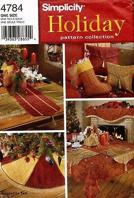 Simplicity Christmas Accessories Pattern 4784 UNCUT