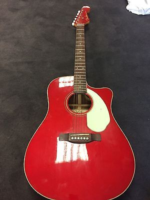 Fender Sonoran Cse Candy Red Electo Acoustic Guitar