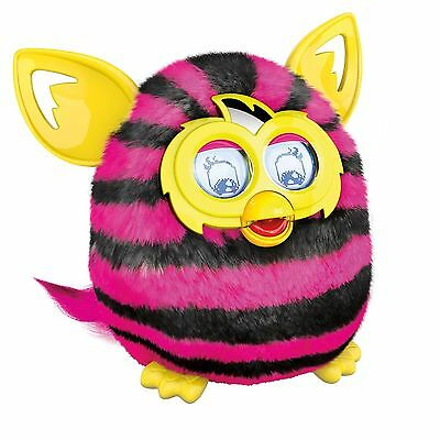 Hasbro Furby Boom Straight Stripes Pink Electronic Talking Pet - New/Sealed