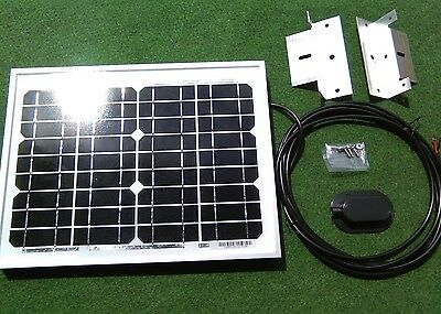 10w 10 watt solar panel + bracket kit suit camper van motorhome VW camper shed