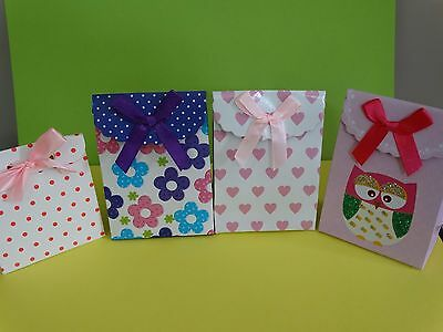 12 Small Fold Flat Gift Boxes Bags With Velcro - Favours Present Party Wedding