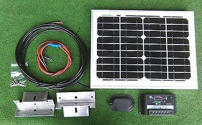 10w 10 watt solar panel + fitting kit suit camper van motorhome VW camper shed
