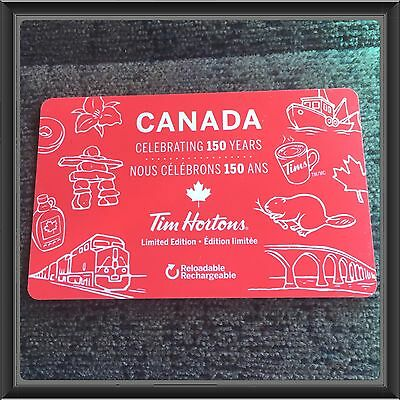 Tim Hortons Canada Celebrating 150 Years Gift Card-special Edition Gift Card