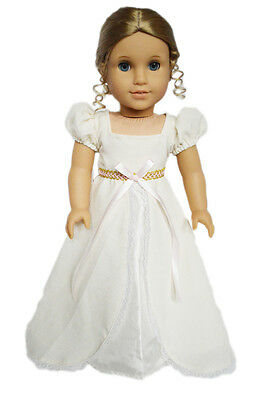 Ivory Victorian Gown Doll Clothes for 18 Inch  American Girl Dolls