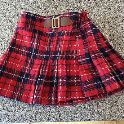 Next girls tartan skirt 18-24 months with belt buckle