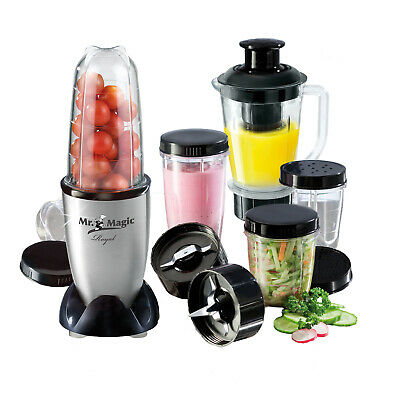 Mr Magic Royal Edelstahl Standmixer Smoothie Maker Küchenmaschine 400W Nutrition