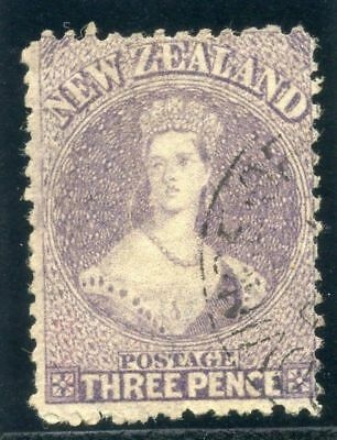 New Zealand 1867 QV 3d lilac very fine used. SG 117. Sc 33.