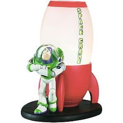 Disney Toy Story Buzz Lightyear Figure Space Crane Ship Lamp Light NIB RARE