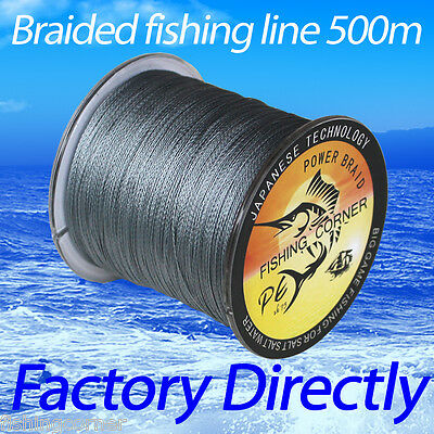 100lb Braided Fishing Line 500m Multifilament Polyethylene PE Braid Line green