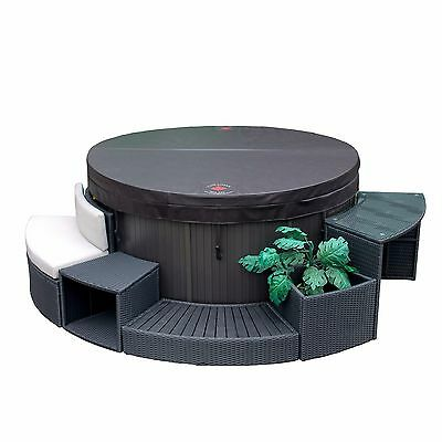 Rio Grande 4-Person 88-Jet Inflatable Plug and Play Spa WITH Furniture
