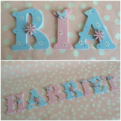 Children Kids Wooden Letter Bedroom Wall Door Nursery Playhouse ANY NAME/COLOUR