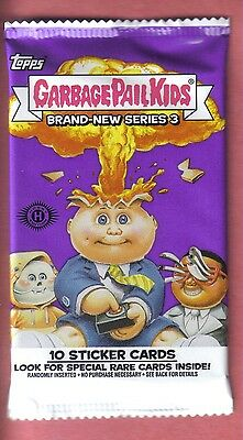 2013 Garbage Pail Kids Brand New Series 3 Unopened Sticker Hobby Pack from Box!