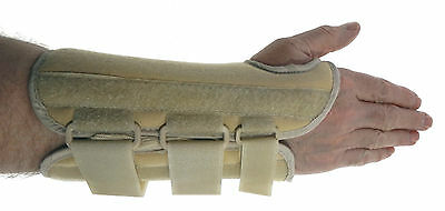 Orthotic Cream Comfort Wrist Brace splint support removable stay, most sizes